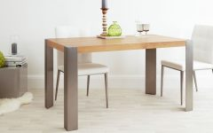 Brushed Metal Dining Tables