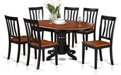 Craftsman 7 Piece Rectangle Extension Dining Sets with Side Chairs