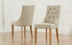 Oak Fabric Dining Chairs