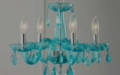 Turquoise Ball Chandeliers