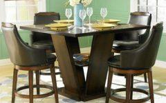 Barra Bar Height Pedestal Dining Tables