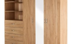 3 Door Wardrobes with Drawers and Shelves