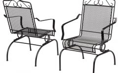 Iron Rocking Patio Chairs