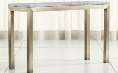 Parsons Concrete Top & Brass Base 48X16 Console Tables