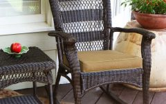 Wicker Rocking Chairs for Outdoors