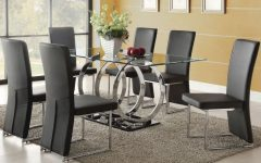 Glass Dining Tables with 6 Chairs