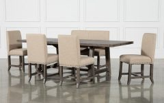 Jaxon 6 Piece Rectangle Dining Sets with Bench & Wood Chairs