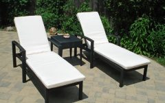Black Outdoor Chaise Lounge Chairs