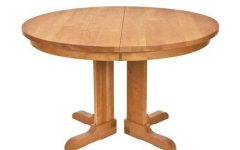 Gaspard Extendable Maple Solid Wood Pedestal Dining Tables