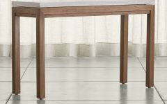 Parsons Concrete Top & Elm Base 48x16 Console Tables