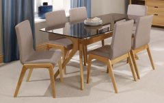 Oak Glass Top Dining Tables