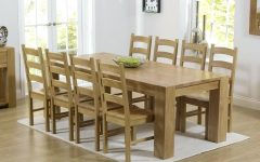 Oak Dining Tables and 8 Chairs