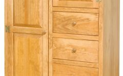 Pine Wardrobes With Drawers And Shelves