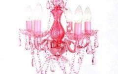 Pink Plastic Chandeliers