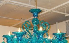 Turquoise Color Chandeliers
