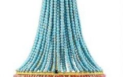 Turquoise Blue Beaded Chandeliers