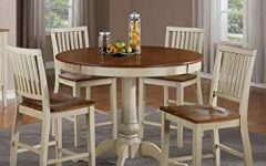 Candice Ii 5 Piece Round Dining Sets
