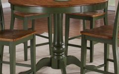 Andrelle Bar Height Pedestal Dining Tables