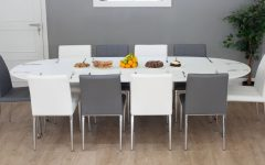 White Oval Extending Dining Tables