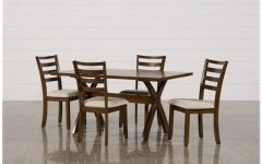 Palazzo 7 Piece Dining Sets with Mindy Slipcovered Side Chairs