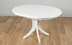 Round White Extendable Dining Tables