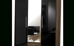 3 Door Black Wardrobes