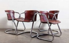 Chrome Leather Dining Chairs