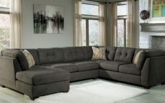 Norfolk Chocolate 3 Piece Sectionals with Raf Chaise