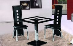 Square Black Glass Dining Tables