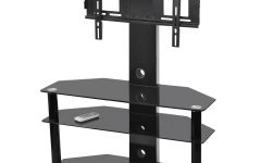 Swivel Black Glass Tv Stands