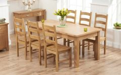 Light Oak Dining Tables and 6 Chairs