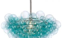 Turquoise Bubble Chandeliers