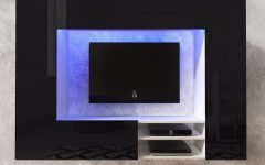 Black Gloss Tv Wall Unit