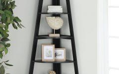 Mari Wood Corner Bookcases