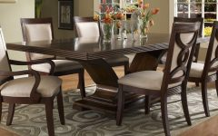 Solid Dark Wood Dining Tables