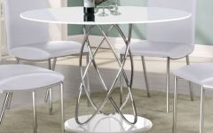 Round High Gloss Dining Tables