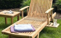 Hardwood Chaise Lounge Chairs