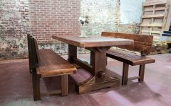 Bench with Back for Dining Tables