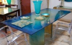 Blue Glass Dining Tables