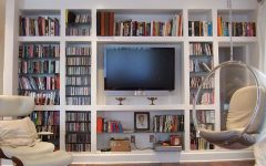 Bookshelves With Tv Space