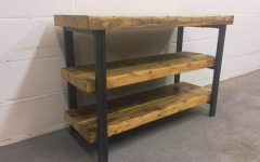 Wood and Metal Tv Stands