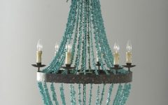 Turquoise Beads Six-light Chandeliers
