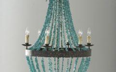 Turquoise Beads Six-light Chandeliers