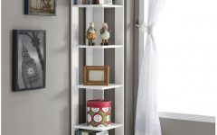 White Corner Bookcases