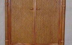 Wicker Armoire Wardrobes