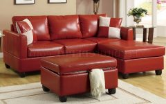 Small Red Leather Sectional Sofas